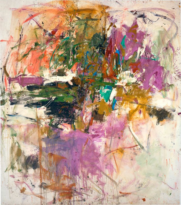 Untitled, 1961. Oil on canvas, 90 x 81 inches (228.6 x 205.7 cm). Collection of the Joan Mitchell Foundation, New York.
