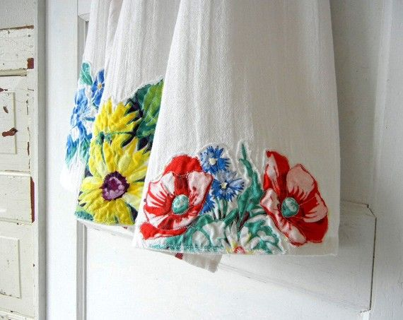 upcycled dish towels