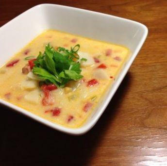Recette de chaudrée de pétoncles et chorizo caramélisé à l'érable selon Mitche D.