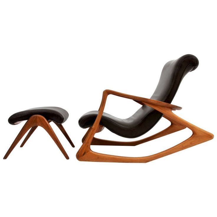 """Vladimir Kagan """"Contour"""" Lounge Chair & Ottoman, Circa 1960, *Free Shipping 