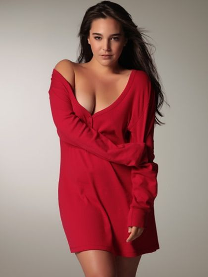Plus Size Button Front Nightshirt Red From the plus size fashion community of www.VintageandCurvy.com