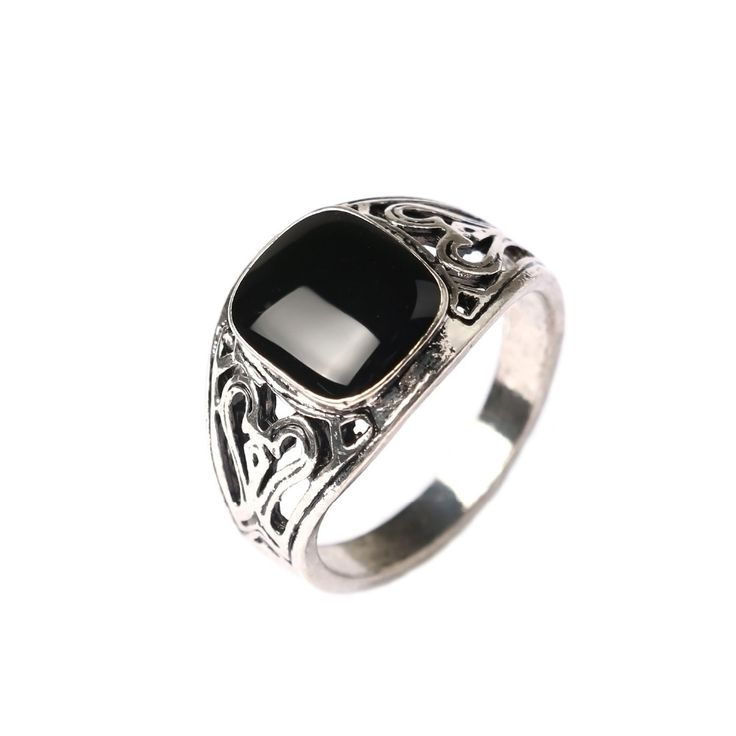 http://rubies.work/0434-sapphire-ring/ Vintage Emerald Rings For Men mystic topaz Silver Men's Rings Hollow Out