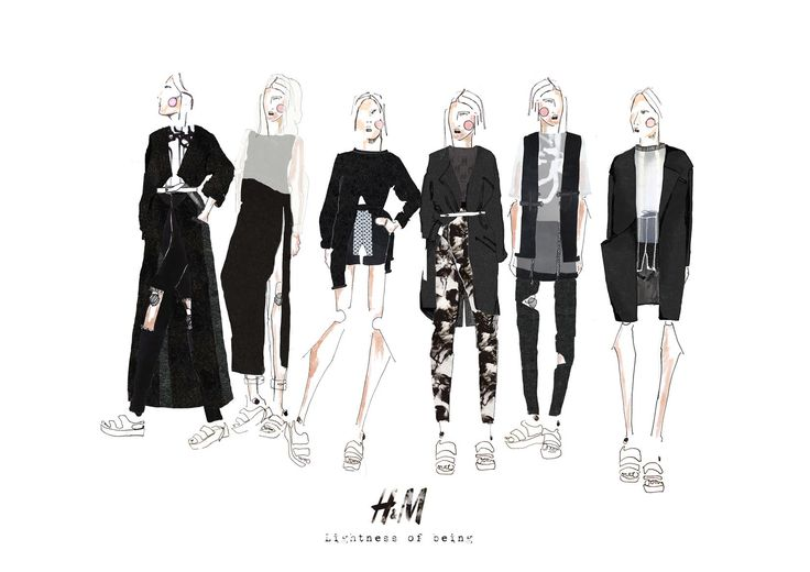 Fashion Sketchbook - fashion illustrations; collection line up; fashion portfolio // Verity Germer