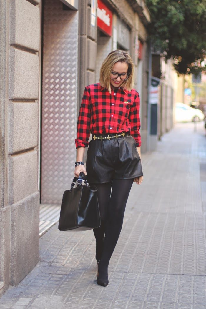 'Leather & High Waist' by Showroom Blog