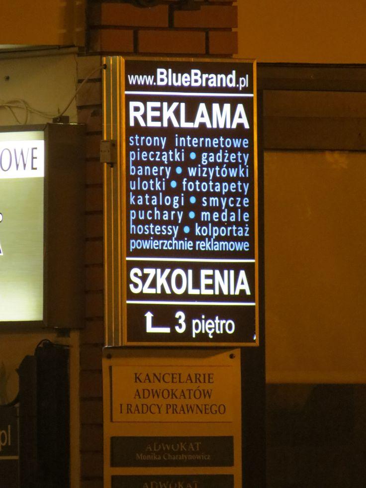 kaseton świetlny LED 50x85 cm z czujnikiem zmierzchu - projekt i wykonanie www.BlueBrand.pl #BlueBrand #AgencjaReklamowa #reklama