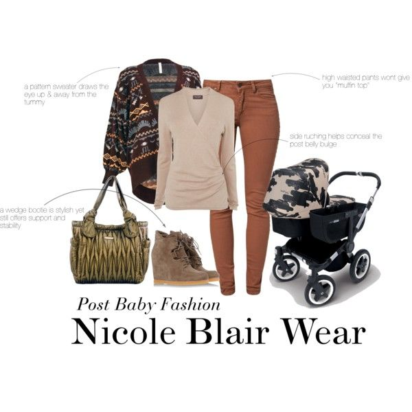 "Just because you are new Mom doesn't mean you have to dress in sweats. Here I created an outfit that is stylish and will help conceal your post baby bump.  ""Post Baby Fashion"" by nicoleblairwear on Polyvore"
