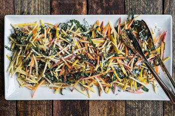 Carrot Beet Apple Slaw- Recipe Image / Photo by Chelsea Kyle, food styling by Michelle Gatton, prop styling by Alyssa Pagano