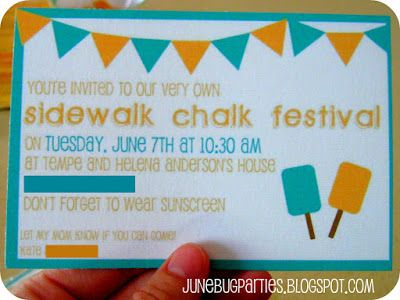 cute plans for the neighborhood to join in the chalk festivities