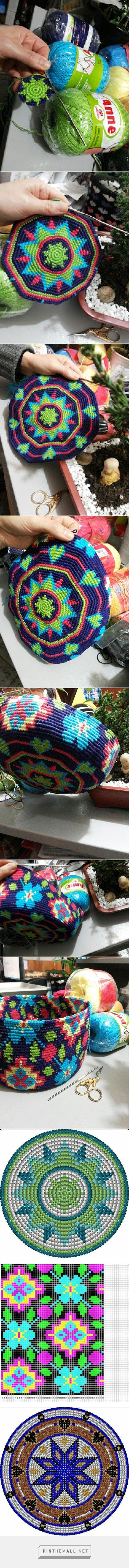 Canto do Pano Artesanato: Começando mais uma bolsa no estilo Wayuu,  tem vídeo explicando o - created via http://pinthemall.net