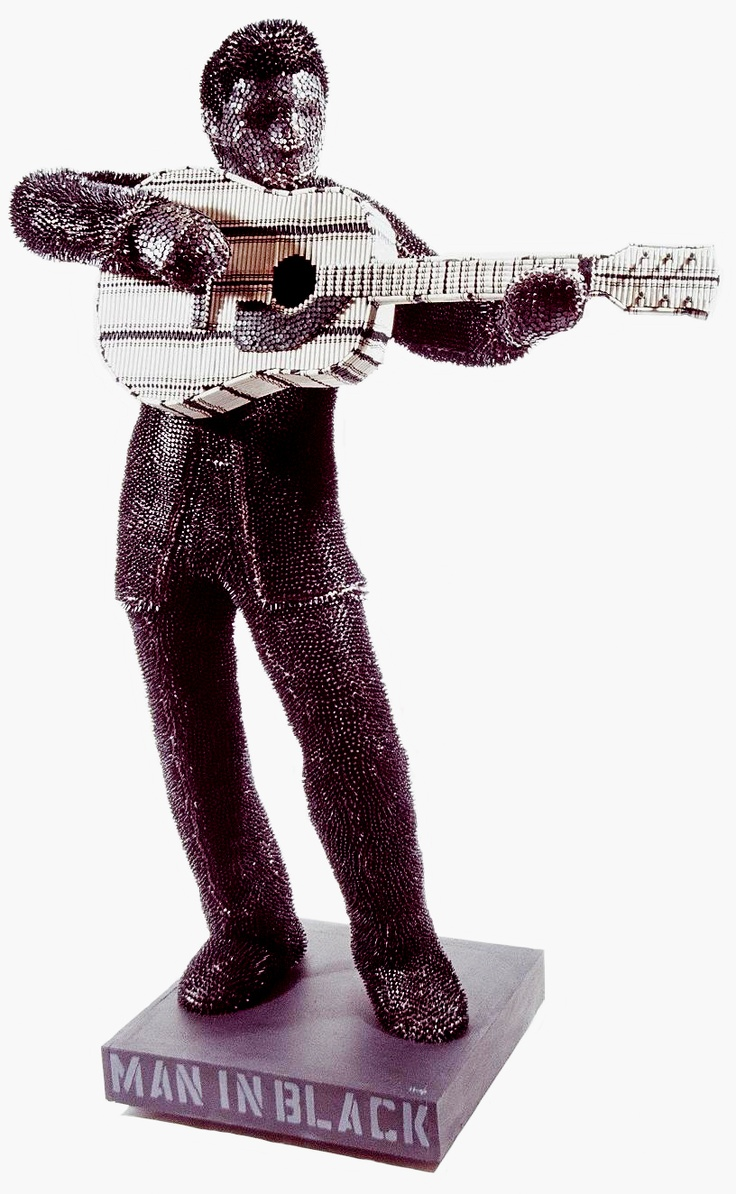 The Man In Black, homage to Johnny Cash, life-size. Herb Williams, crayola crayons: Emergency Artists, Sculpture Artists, Crayola Crayons, Brows Crayons, Crayons Art, Herbs Crayons, Herbs Williams, Life S Herbwilliam, Herbwilliam Nashvilleart