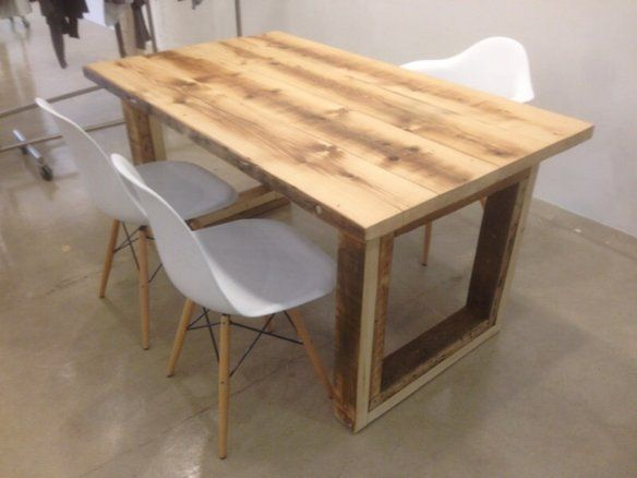 Reclaimed wood dining table, salvaged from barn - 15 Best Images About Reclaimed Wood Furnishings On Pinterest