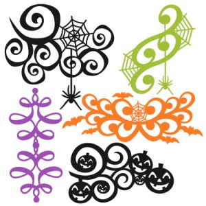 LOVE this one!!  :o)  Halloween Flourish Set SVG scrapbook title SVG cutting files crow svg cut file halloween cute files for cricut cute cut files free svgs