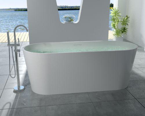 Banheiras de Imersão - Top Bath H - 07  (1,63 x 0,76 x 0,58 m)    Linhas simples para um banho com estilo.