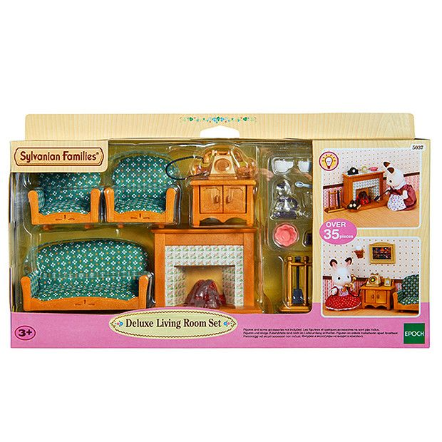 Sylvanian Families Deluxe Living Room Set | Living room ...