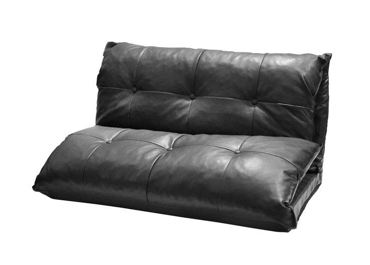 Urban Shop Tufted Faux Leather Flip Sofa