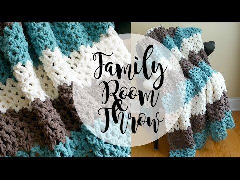 Fiber Flux: Free Crochet Pattern...Family Room Throw!
