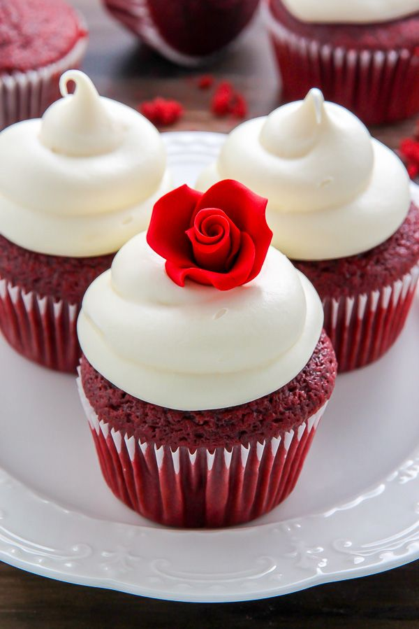 Supremely moist red velvet cupcakes topped with luscious cream cheese frosting - made in just ONE bowl!