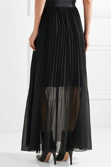 By Malene Birger - Lallah Pleated Chiffon Maxi Skirt - Black