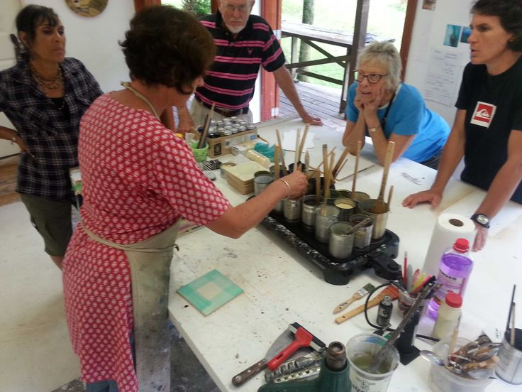 ART+CRAFT+GIFT: Encaustic Art with Nicki Stewart This course will provide you with all the information and practice you need to start creating your own beautiful works in wax. To enroll visit http://lakehousearts.org.nz/class/the-vintage-craft-school/