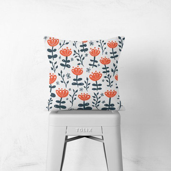 Chair Cushion Decorative Cushion Floral Homeware Throw Pillow Pillows For Couch Floral Home Decor Scandinavian Home Modern Decor Decorative Cushions Chair Cushions Floral Chair