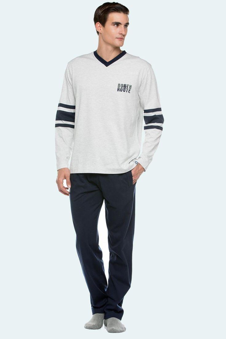 Pijama Punto Blanco modelo Silence 100% algodón