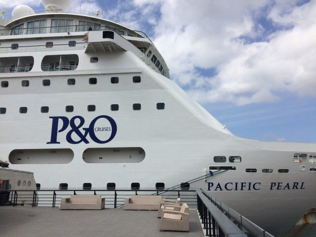 P&O Pacific Pearl departing Sydney on 30 Sept 2016 - image 08