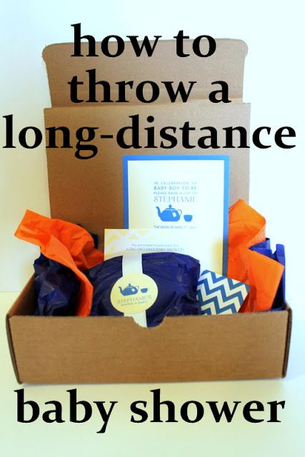 (she always loved) larking.: how to throw a long-distance baby shower Send during designated week (not day) Create invite celebratory boxes