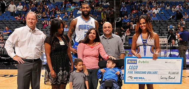 Tonight, Kyle O'Quinn was named the Aleve-Publix 'Hustle Player of the Year' and $5000 was donated to CECO.