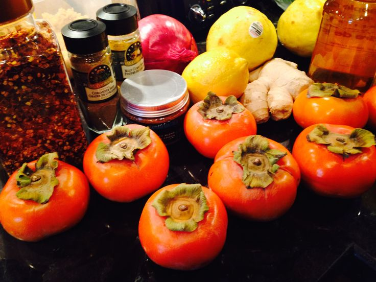 Persimmons Chutney ingredients