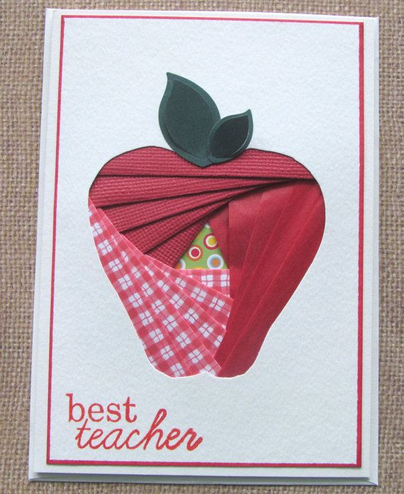 Handmade Greeting Card  Iris Folding  Apple for by Stuffbysteph77