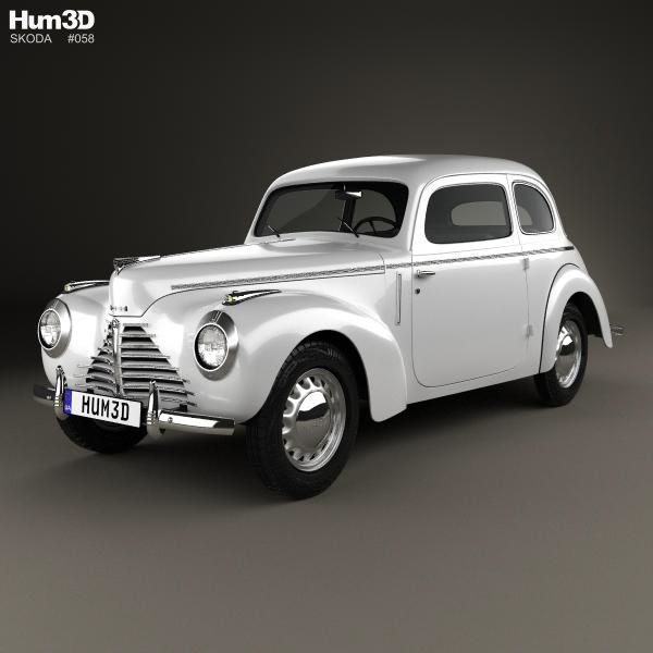 Skoda 101 (Type 938) Tudor 1946 3D model from Hum3d.com.