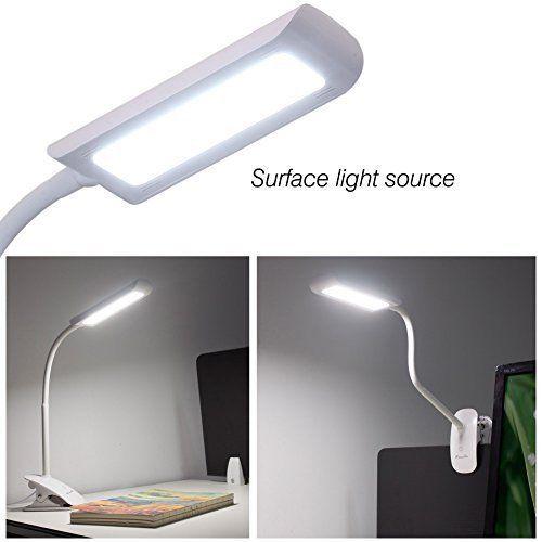 Dimmable Led Desk Lamp Eye Care Gooseneck Clip On Touch Sensitive Control Light Kedsum