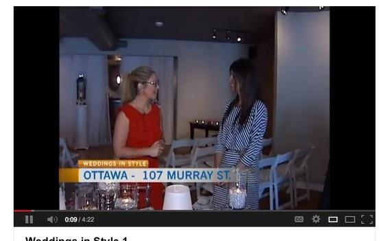 Amanda O'Reilly talks weddings. 2013 Wedding trends. Ottawa wedding venue. www.weddingsinstyle.ca www.facebook.com/weddingsinstyle