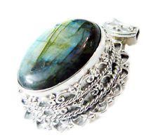 handsome Labradorite 925 Sterling Silver Multi Pendant jewellery US gift