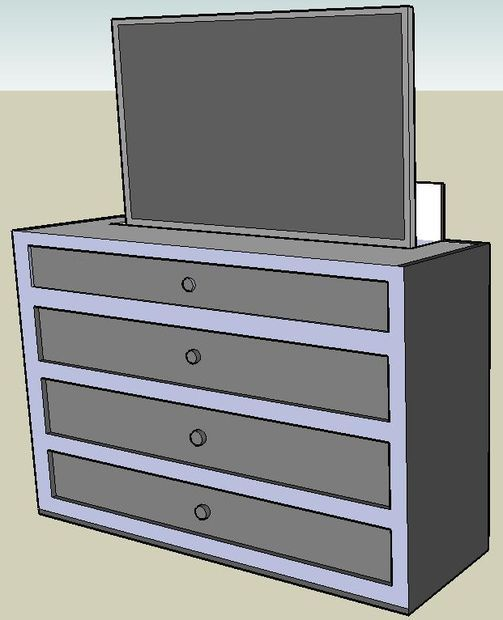 home automation pop up tv lift cabinet