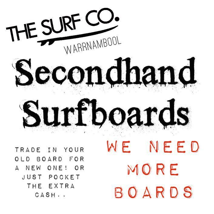 ATTENTION: We need more boards! Drop in your second hand surfboards tomorrow with @benncherry!! #surf #surfco #surf3280 #surfboards #secondhandsurfboards #warrnambool #shoplocal by thesurfco