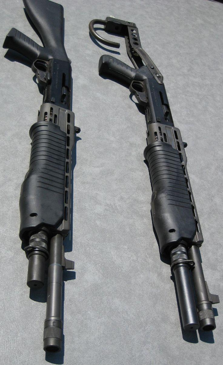 SPAS 12 dual mode (pump/semi auto) shotgun. Used a ton in movies, tv, & games. Good combat style shotgun.