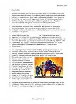 Begrijpend lezen - Superhelden