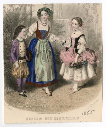 """Miscellaneous 1820-1860, Plate 038. Fashion plates, 1790-1929.  The Costume Institute Fashion Plates.  The Metropolitan Museum of Art, New York. Gift of Woodman Thompson (b17509853) 