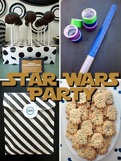 Star Wars Birthday Party with links to free party printables