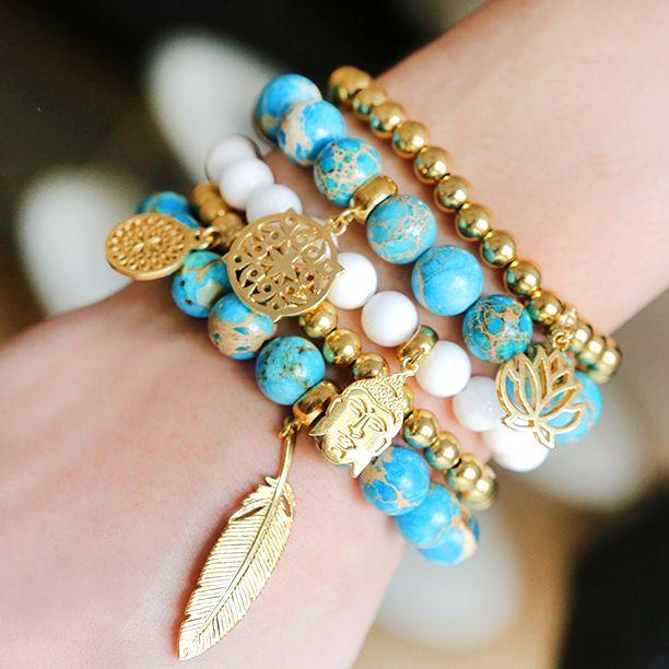 #mokobelledaybyday #mokobelle #mokobellejewellery #bracelet #jewellery #jewelry #bransoletka #lifestyle #white #turkus #gold