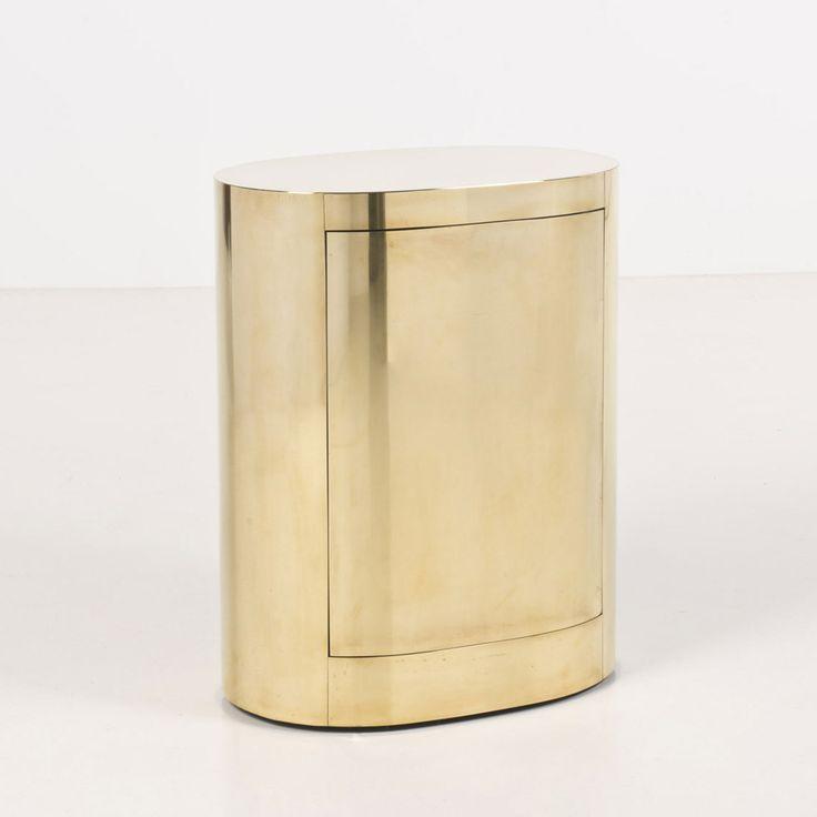 Gabriella Crespi; Brass over Wood 'Bar Ovale', 1976.