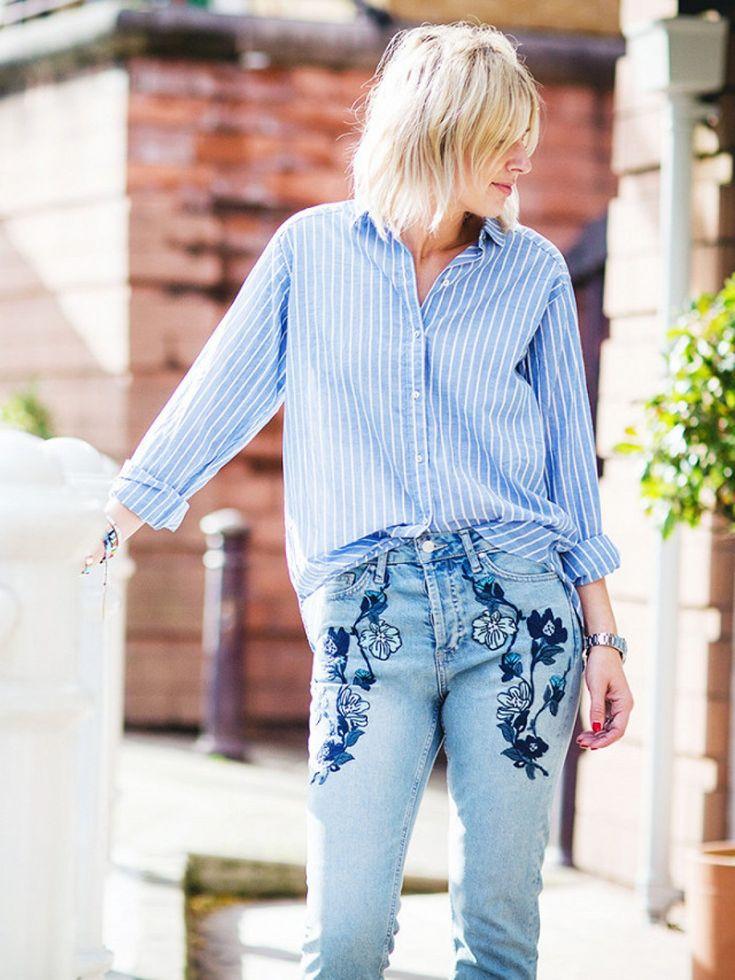 Если тебе немного за 30: как носить джинсы с вышивкой