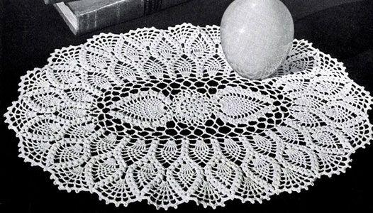 Oval pinapple doily pattern
