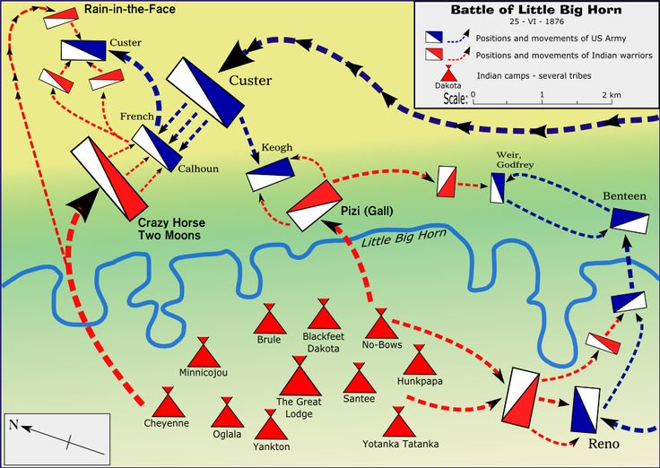 BATTLE MAP LITTLE BIG HORN Pinterest Sitting Bull - Little bighorn river location on us map