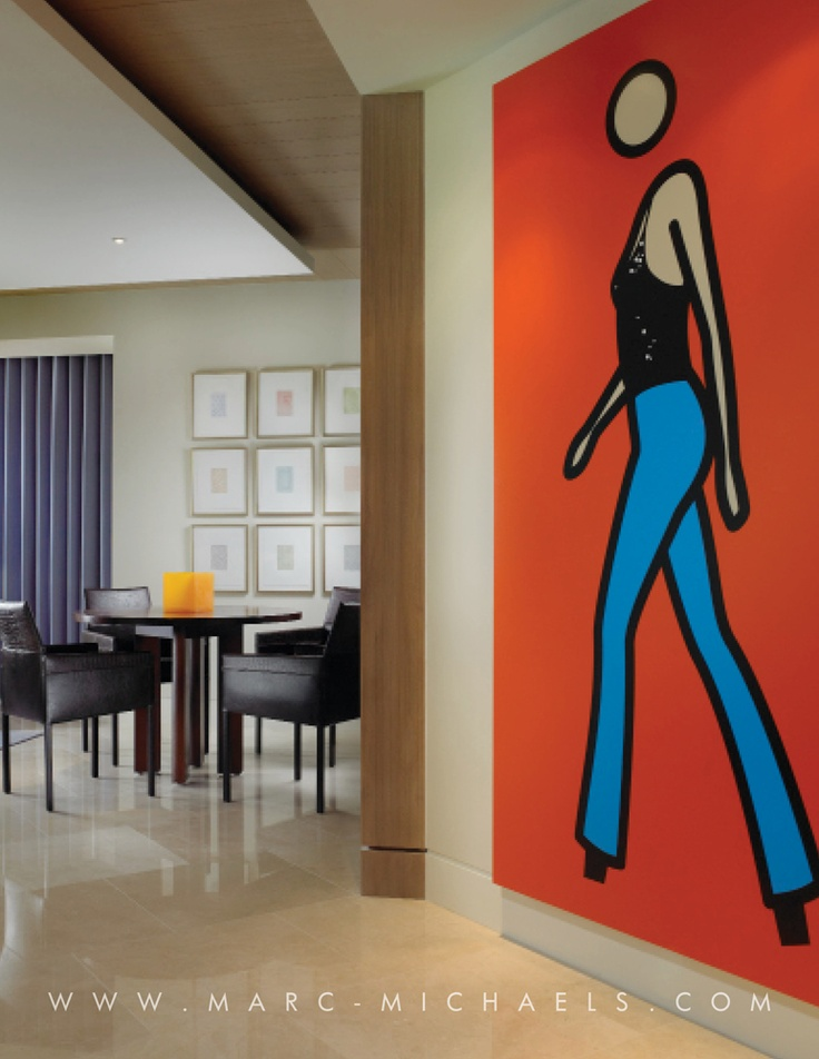 Contemporary Interior Design Hallway Art Naples FL