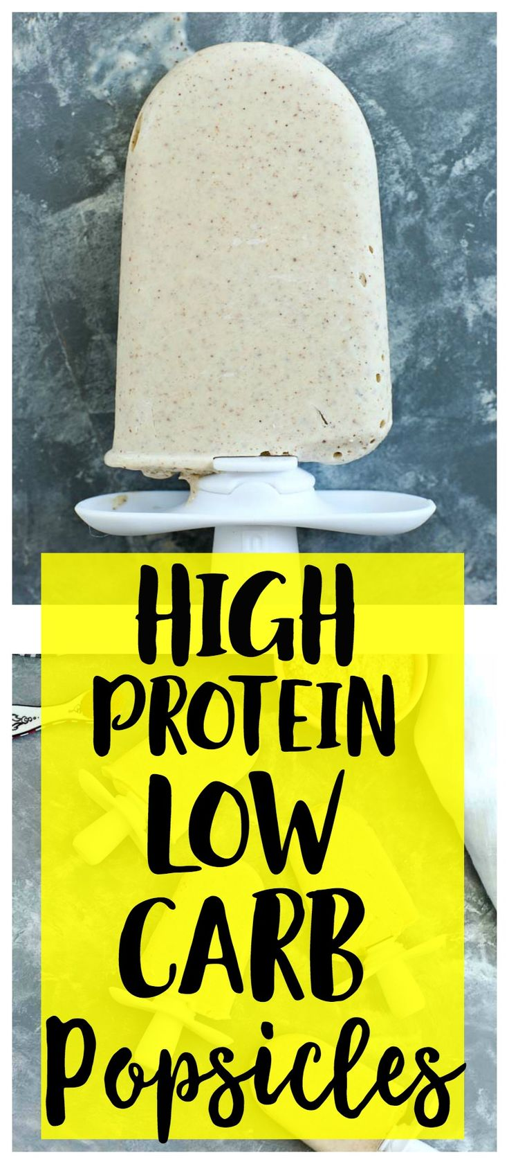 High protein low carb dairy free healthy popsicle recipe!