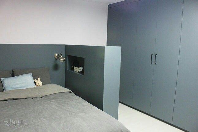 가벽, 인테리어, 침실