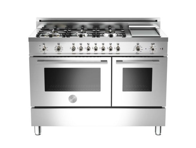 122 6-Burner + Griddle Electric Double Oven | Professional Series | Ranges | Bertazzoni