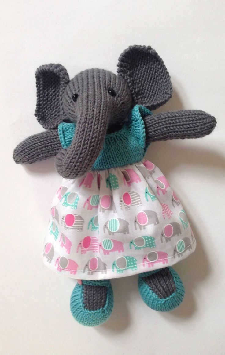 A personal favourite from my Etsy shop https://www.etsy.com/uk/listing/508552128/knitted-elephant